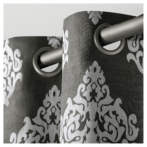 Exclusive Home Damask Curtain Panels - Set of 2 Panels - image 1 of 3