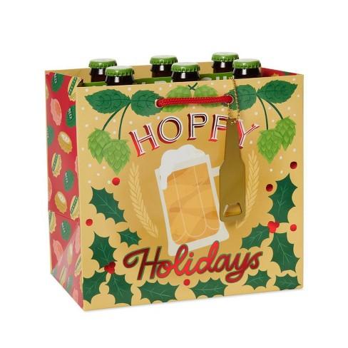 Papyrus Christmas Hoppy Holidays Beverage Gift Bag - image 1 of 3