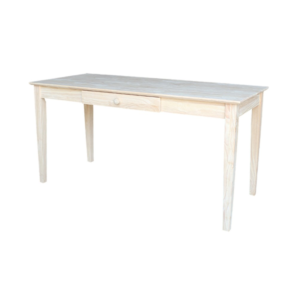 Writing Desk - Unfinished - International Concepts, Wood