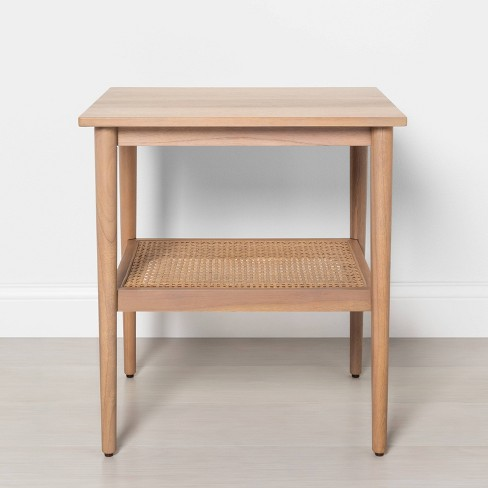 Wood Cane Accent Table Natural Hearth Hand With Magnolia Target