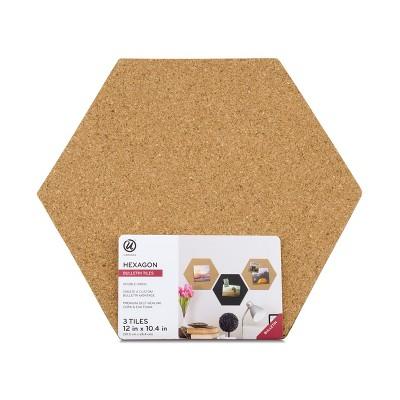 UBrands® Reversible Cork Hex Tiles 3ct