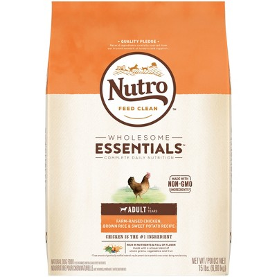 Nutro Wholesome Essentials Adult Chicken & Rice Dry Dog Food - 15lb