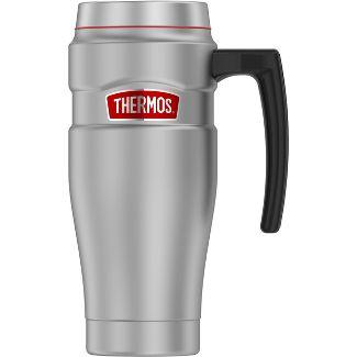 Thermos 16oz Stainless Steel King Travel Mug Matte Silver