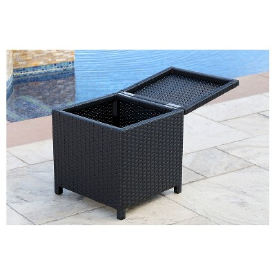 Genial Newport Outdoor Wicker Storage Ottoman   Black   Abbyson Living : Target