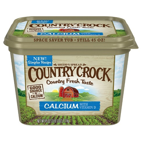 Country Crock Calcium Vegetable Oil Spread Tub - 45oz - image 1 of 1