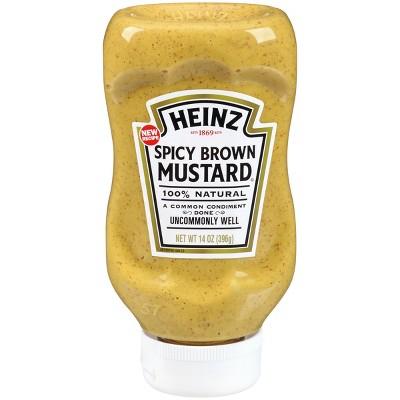 Mustard: Heinz Spicy Brown