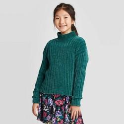 Girls' Ribbed Mock Neck Sweater - art class™