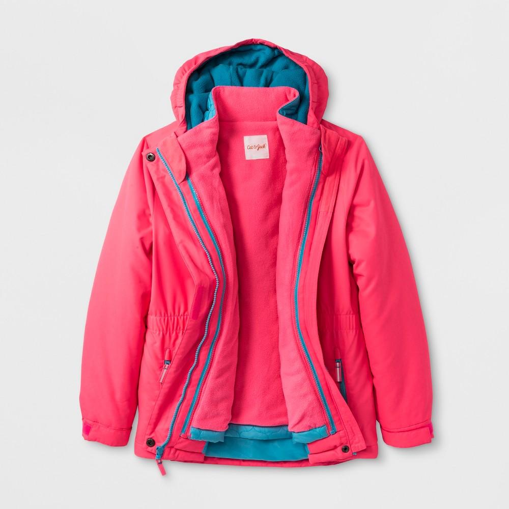 Girls' 3-in-1 System Jacket - Cat & Jack Pink Xxl