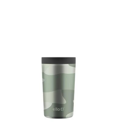 Ello Jones 11oz Vacuum Insulated Stainless Steel Travel Mug Green Camo