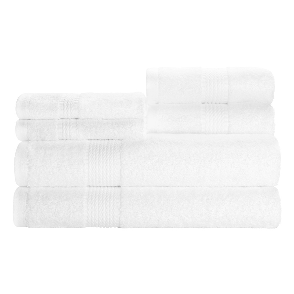 6pc Heirloom Bath Towel Set White - Caro Home