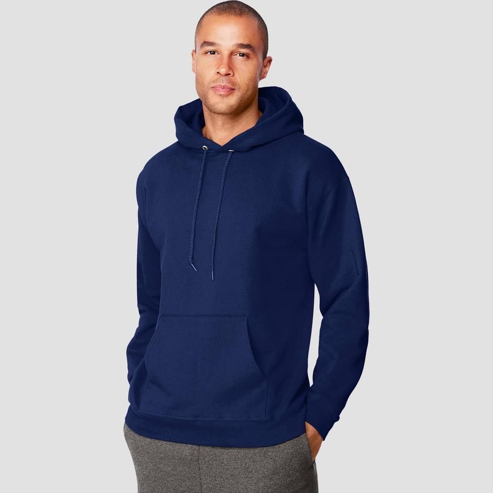 Hanes Men S Ultimate Cotton Pullover Hooded Sweatshirt Navy L