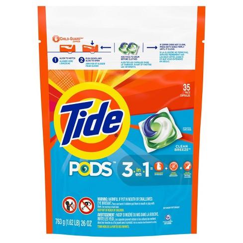 Tide Pods Clean Breeze Laundry Detergent Pacs - image 1 of 4