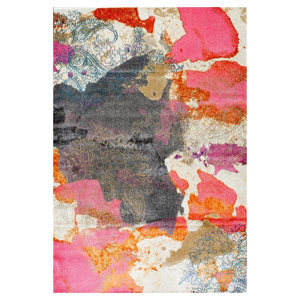 Pink Solid Loomed Area Rug - (7'10