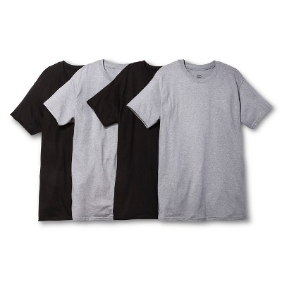 Hanes Men's 4pk Dri Crew Neck T-Shirt - Black/Gray