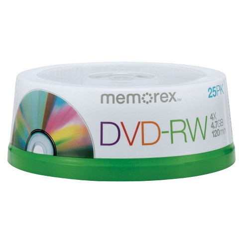 Memorex DVD-RW Spindle Disc Pack - 25 PK - image 1 of 1