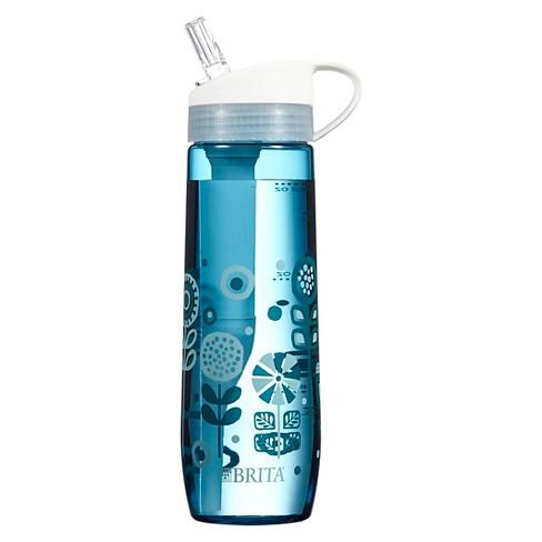 brita hard sided 23.7 oz water bottle - mint sunburst : target