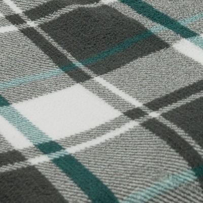 Gray/White & Teal Blue Plaid