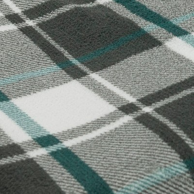 Gray/White & Teal Blue Plaid