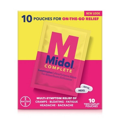 Midol On the Go Menstrual Symptom Relief Tablets - 20ct
