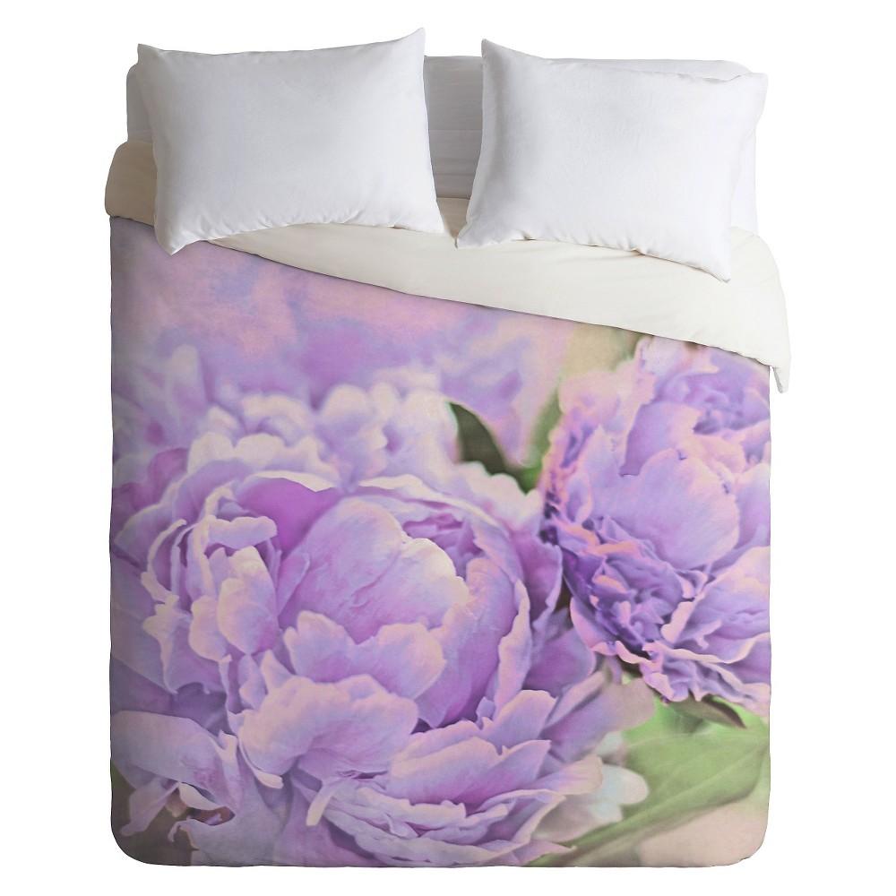 Lisa Argyropoulos Lavender Peonies Lightweight Duvet Cover Queen Purple - Deny Designs