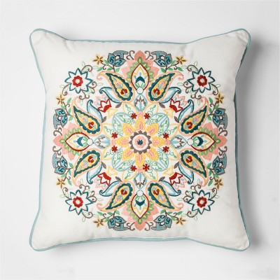 Centre Medallion Embroidered Throw Pillow - Threshold™