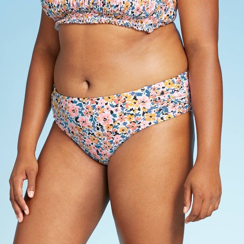 Women's Plus Size Hipster Bikini Bottom - Xhilaration™ Floral Print - image 1 of 4