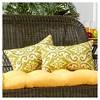 Set of 2 Shoreham Ikat Outdoor Rectangle Throw Pillows - Kensington Garden - image 2 of 4