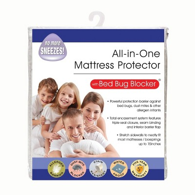 All-In-One Mattress Protector Cover with Zippered Bed Bug Blocker - Fresh Ideas