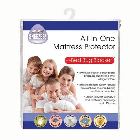 Queen All In One Mattress Protector Cover With Zippered Bed Bug Blocker Fresh Ideas Target