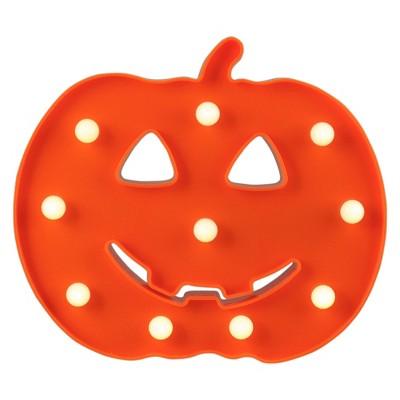 "Northlight 8.5"" Lighted Orange Jack-o-Lantern Halloween Marquee Decoration"
