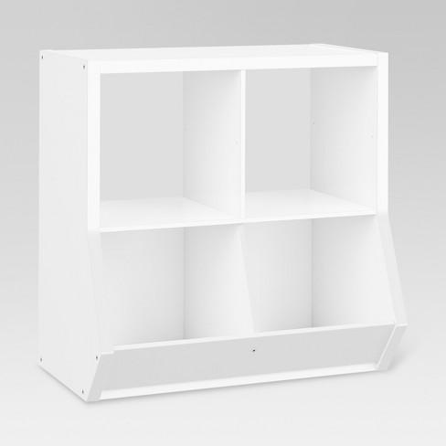"4-Cube Organizer with Potato-Bins White 13"" - Threshold™ - image 1 of 2"