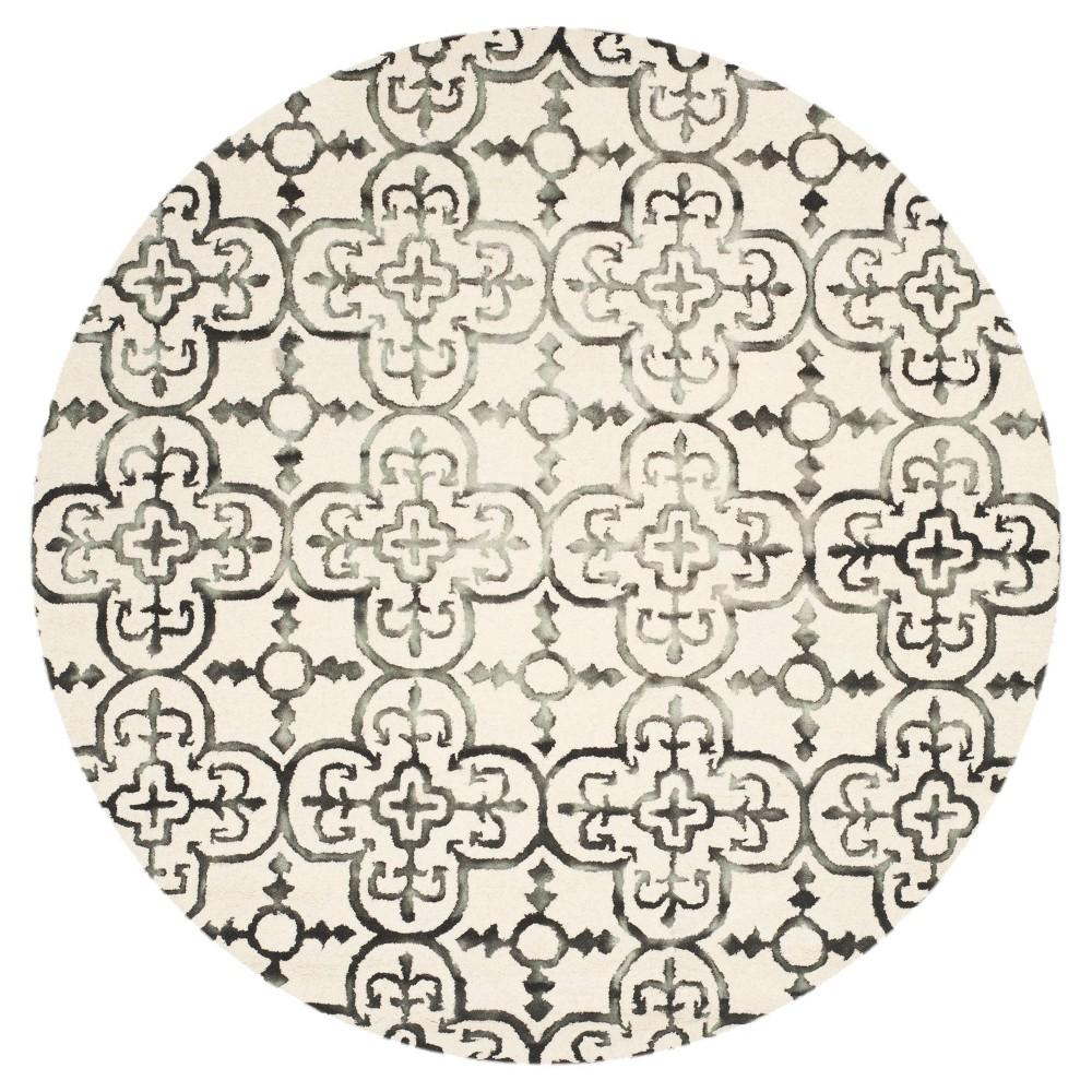 Bardaric Area Rug - Ivory/Charcoal (Ivory/Grey) (7' Round) - Safavieh