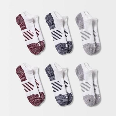 Men's Trackster No Show Socks 6pk - All in Motion™ White 6-12