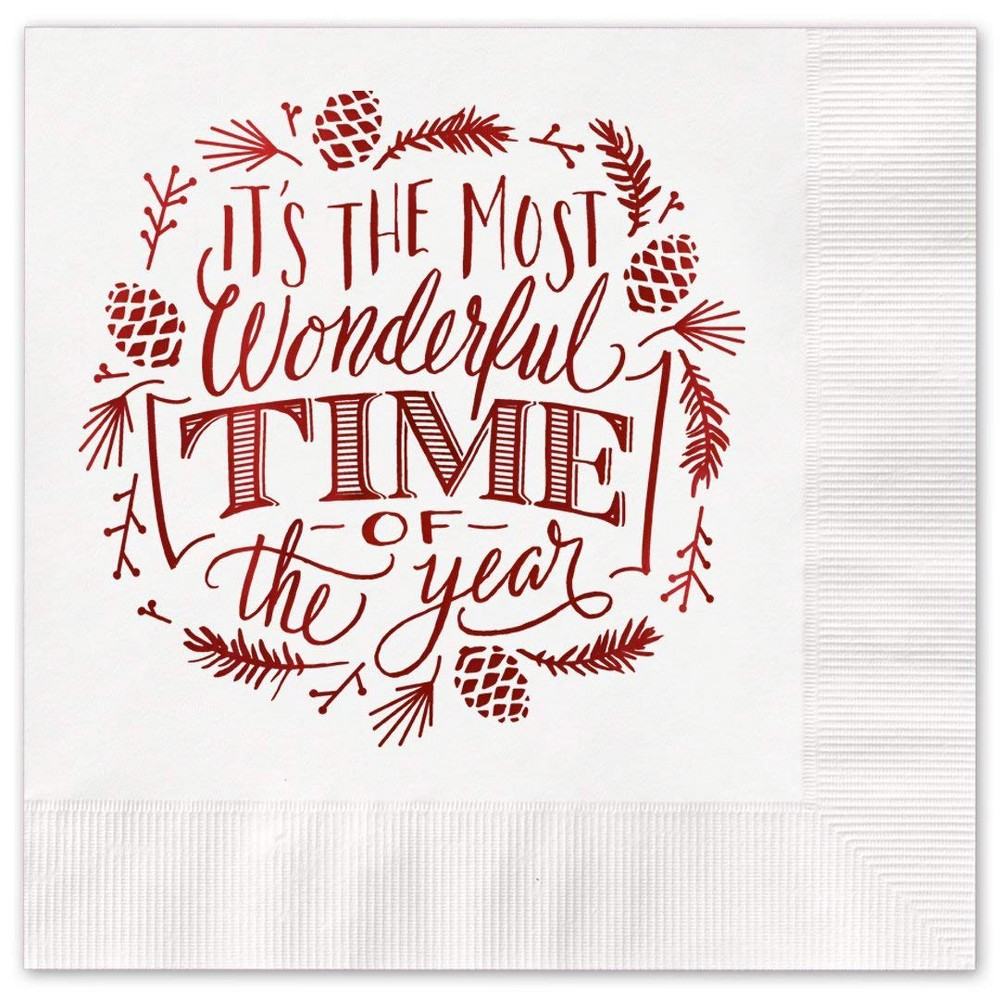 "Image of ""25Ct """"Most Wonderful Time Of The Year"""" Greeting Cards"""