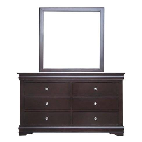Orleans 6 Drawers Dresser Mirror Cherry Steve Silver Co Target