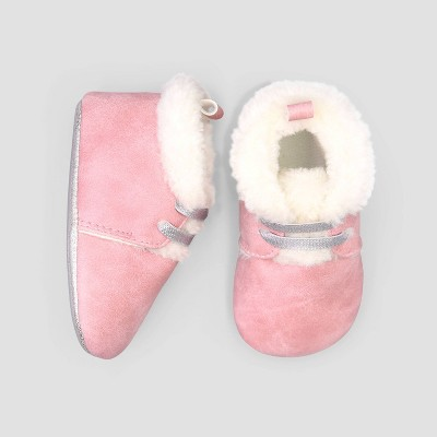 Baby Girls' Desert Boot Crib Shoes - Just One You® made by carter's Pink