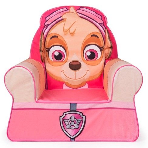 Marshmallow Furniture Comfy Foam Toddler Kid's Chair Armchair for Ages 18 Months Old and Up, Paw Patrol Skye, Pink - image 1 of 3