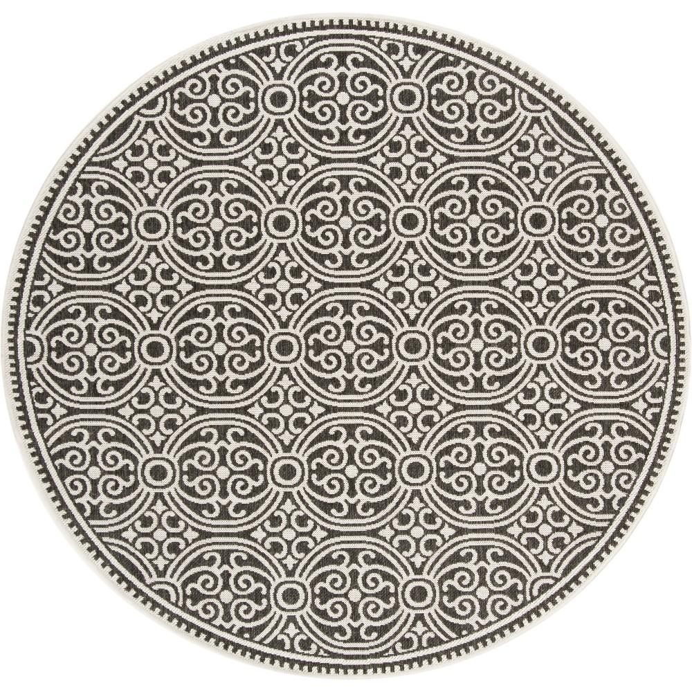 6'7 Medallion Loomed Round Area Rug Light Gray/Charcoal (Light Gray/Grey) - Safavieh