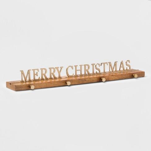 Stocking Holder Merry Christmas Gold - Threshold™ - image 1 of 2
