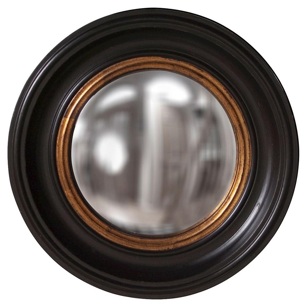 Image of Round Albert Decorative Wall Mirror Black/Gold - Howard Elliott