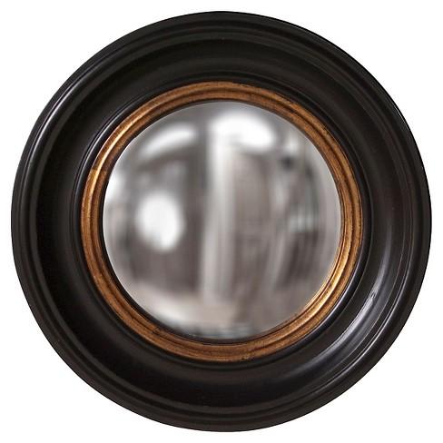 Round Albert Decorative Wall Mirror Black/Gold - Howard Elliott - image 1 of 2