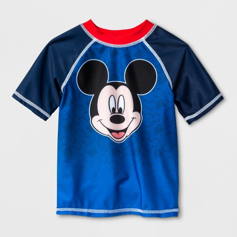 c44ad6214047 Toddler Boys  Disney Mickey Mouse   Friends Mickey Mouse Rash Guard ...