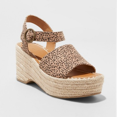 view Women's Morgan Two Piece Espadrille Wedge - Universal Thread on target.com. Opens in a new tab.