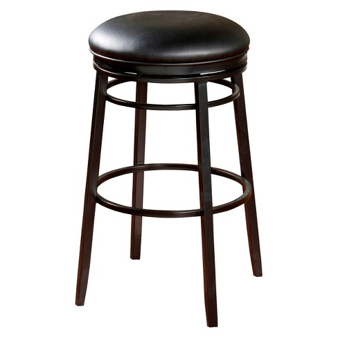 "Silvano Backless Swivel Vinyl 30"" Barstool Metal - American Heritage Billiards - image 1 of 2"