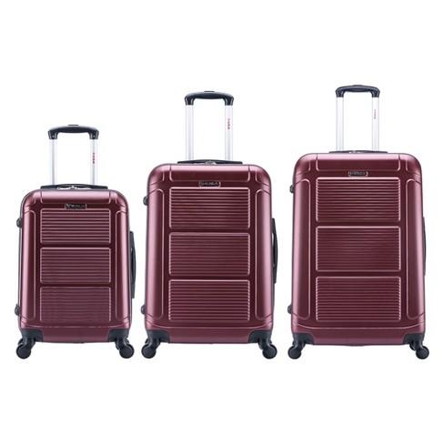"""InUSA Pilot 3pc Hardside Spinner Luggage Set 20""""& 24""""& 28"""" - Wine - image 1 of 3"""