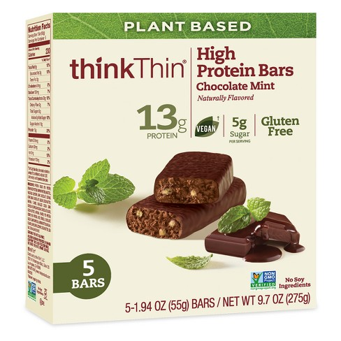 thinkThin Chocolate Mint Naturally Flavored High Protein Bars - 9.7oz - image 1 of 3