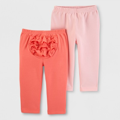 Baby Girls' 2pk Leggings - Just One You® made by carter's Pink/Coral 6M