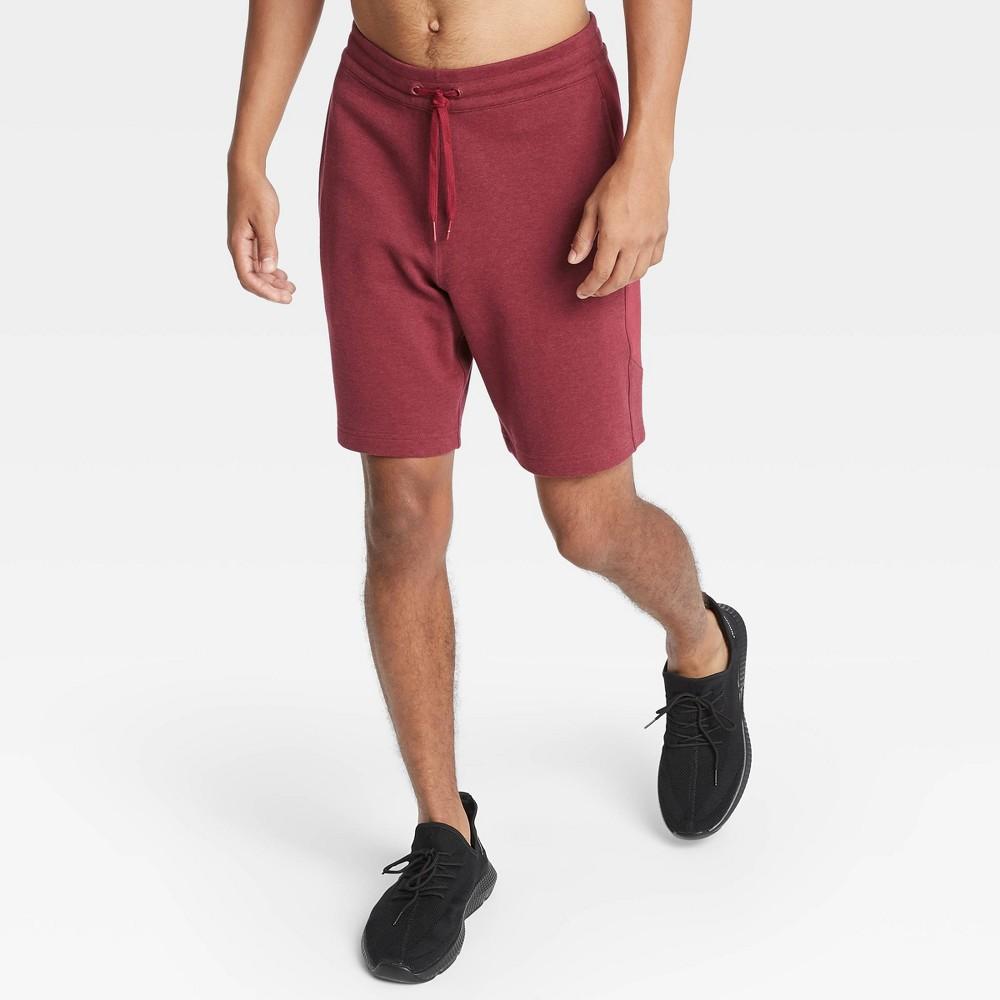Men's Premium Fleece Shorts - All in Motion Red XL, Men's was $22.0 now $14.3 (35.0% off)