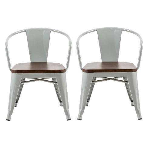 Astonishing Set Of 2 Mixed Material Kids Chair Skyline Gray Pillowfort Interior Design Ideas Gentotryabchikinfo