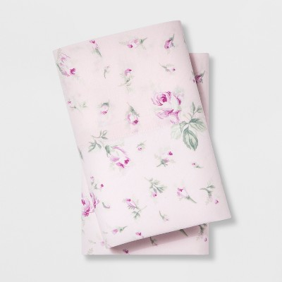 Standard Cotton Floral Print Pillowcase Set Pink - Simply Shabby Chic®